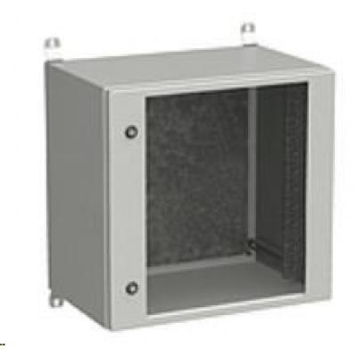 Solarix rozvaděč nástěnný venkovní LC-20 12U 600x600mm, dveře sklo, LC-20-12U-66-11-G