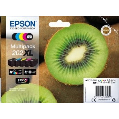 "EPSON ink Multipack ""Kiwi"" 5-colours 202XL Claria Premium Ink"