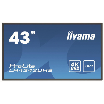 iiyama ProLite LH4342UHS-B3, Android, 4K, black