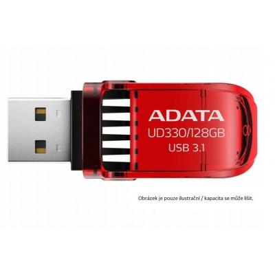 ADATA Flash Disk 128GB UD330, USB 3.1 Dash Drive, červená