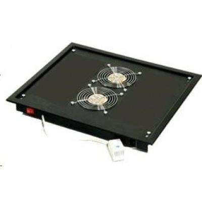 TRITON Ventilační jednotka horní (spodní), 2 ventilátory-230V/30W, termostat, šedá