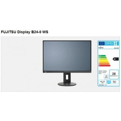 """FUJITSU LCD B24-9 WS 24"""" matný, 1920x1200, IPS, DP, HDMI, D-SUB, REPRO, USB 2x2.0, PIVOT, černý"""
