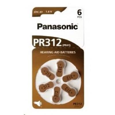 PANASONIC Zinkovzduchová baterie PR-312(41)/6LB AA 1,2V (Blistr 6ks)