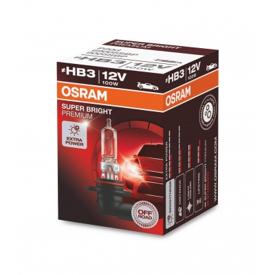 OSRAM autožárovka HB3 [ bez homologace ] OFF ROAD SUPER BRIGHT PREMIUM 12V 100W P20D (Krabička 1ks)