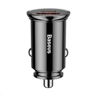 Baseus Circular Plastic nabíječka do auta 30W (PD3.0, QC4.0+ SCP AFC) černá
