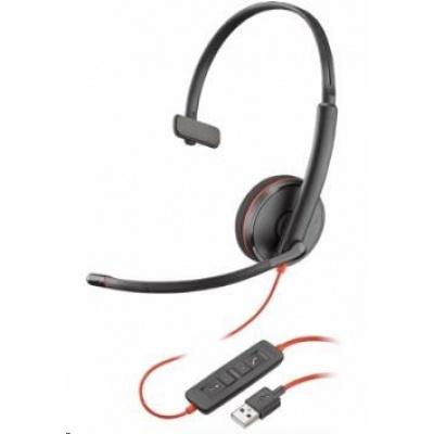 POLY náhlavní souprava BLACKWIRE 3210, USB, mono