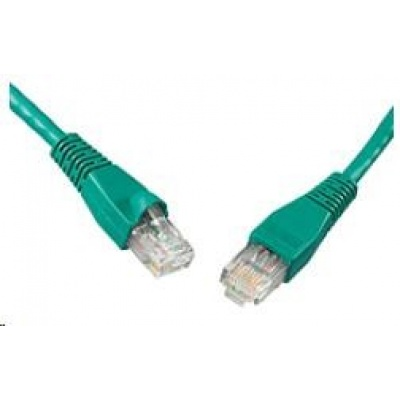 Solarix Patch kabel CAT5E UTP PVC 20m zelený snag-proof C5E-114GR-20MB
