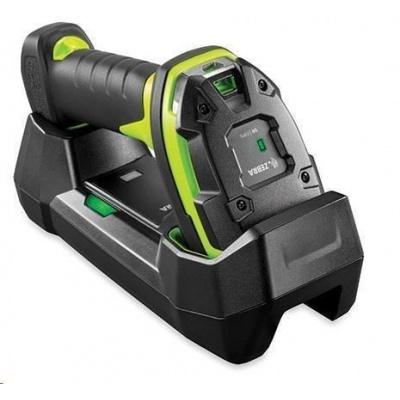 Zebra LI3678-ER, BT, 1D, ER, multi-IF, FIPS, kit (USB), black, zelená