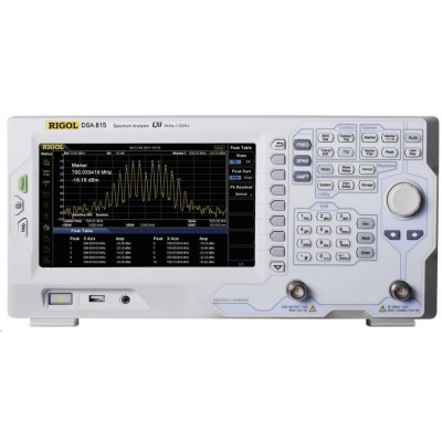 CONRAD Spektrální analyzátor a tracking generátor Rigol DSA815-TG, 9 KHz - 1,5 GHz GHz, Šířky pásma (RBW) 100 Hz - 1 MHz