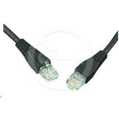 Solarix Patch kabel CAT6 UTP PVC 3m černý snag-proof C6-114BK-3MB