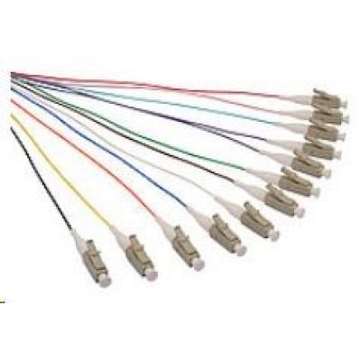 Solarix Pigtail 50/125 LCupc MM OM2 1,5m, balení 12ks - barvy SXPI-LC-UPC-OM2-1,5M-12PCK