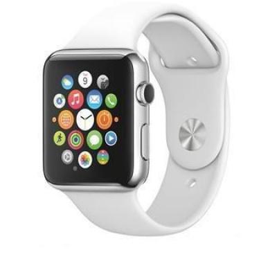 Tactical 465 Silikonový Řemínek pro Apple Watch 1/2/3/4/5/6/SE 38/40mm White