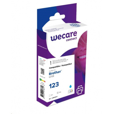 WECARE ARMOR cartridge pro Brother DCP J4110DW, MFC J4310, 4410, 4510DW (LC123C), modrá/cyan, 10ml, 600 str