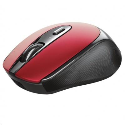 TRUST bezdrátová Myš Zaya Rechargeable Wireless Mouse - red