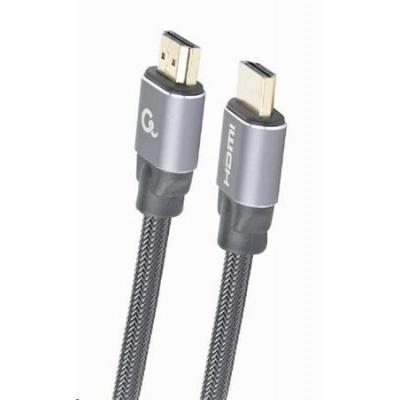 GEMBIRD Kabel CABLEXPERT HDMI 2.0, 1m, opletený, černý, blister
