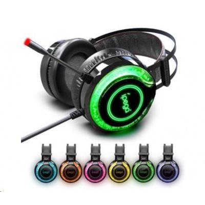 iPega herní stereo sluchátka s mikrofonem PG-R015, 3,5 mm jack, multicolor