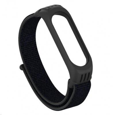 eses nylonový řemínek černý se silikonovým lůžkem pro Xiaomi Mi Band 3/4/5