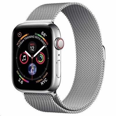 COTEetCI ocelový magnetický řemínek pro Apple Watch 38 / 40mm stříbrný