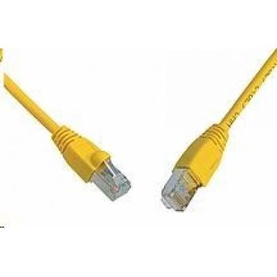 Solarix Patch kabel CAT5E SFTP PVC 10m žlutý snag-proof C5E-315YE-10MB