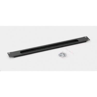 TRITON Průchozí panel 1U - kartáč RAL 9005 černá