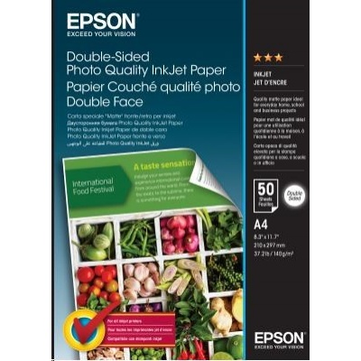 EPSON Paper A4 - Double-Sided Photo Quality Inkjet Paper A4 50 Sheets
