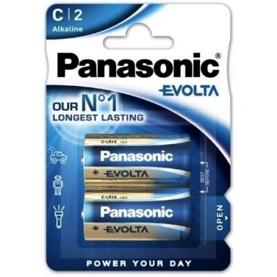 PANASONIC Alkalické baterie EVOLTA Platinum LR14EGE/2BP C 1,5V (Blistr 2ks)