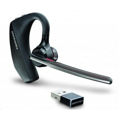 PLANTRONICS Bluetooth Headset Voyager 5200 UC, BT USB adaptér, nabíjecí pouzdro