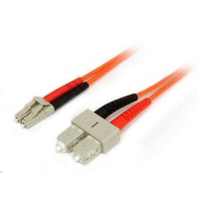 Duplexní patch kabel MM 50/125, OM2, LC-SC, LS0H, 1m