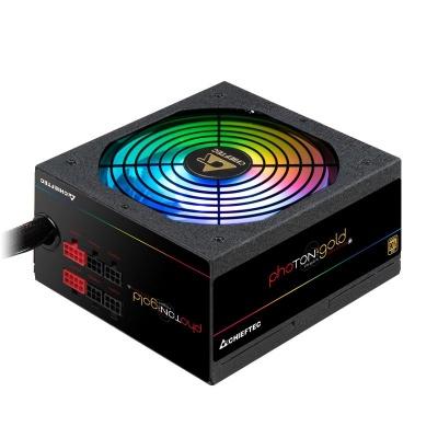 CHIEFTEC zdroj Photon Gold, GDP-650C-RGB, 650W, ATX-12V V.2.3/EPS-1alt01-202V, PS-2, 14cm RGB fan, >90%
