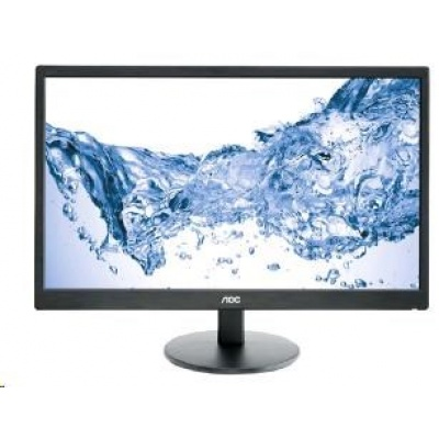 "AOC MT LCD - WLED 23,6"" e2470Swh, 250cd, 100M:1, 1ms, 1920x1080, D-Sub, DVI, HDMI, repro"