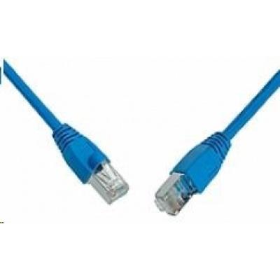 Solarix Patch kabel CAT6 SFTP PVC 0,5m modrý snag-proof C6-315BU-0,5MB