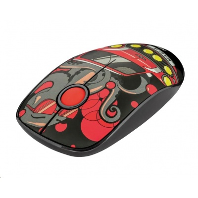 TRUST Myš Sketch Wireless Silent Click Mouse - red