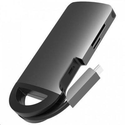Umax U-Connect Type-C Multiport H7 - Type-C Docking Station s HDMI, 3xUSB 3.0, čtečkou SD karet a funkcí nabíjení