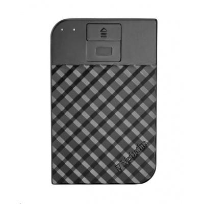 VERBATIM HDD 1TB Fingerprint Secure Portable Hard Drive, Black GDPR