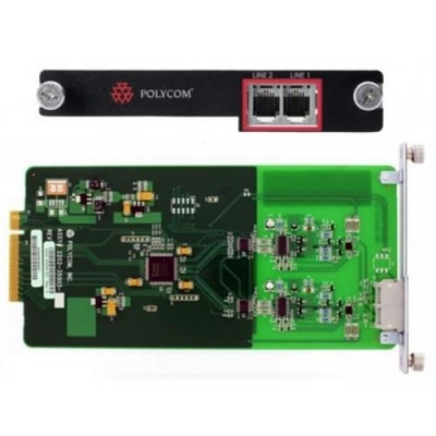 Polycom SoundStructure TEL2, karta s 2x PSTN portem pro SST řady C/SR