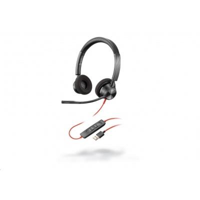 POLY náhlavní souprava BLACKWIRE 3320, USB-A, stereo