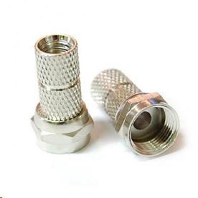Konektor F pro koaxiální kabel o průměru 7,2mm, balení 100ks