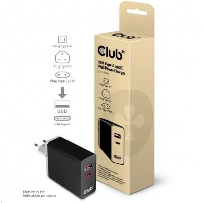 Club3D Nabíječka USB Typ A a C, 60 W