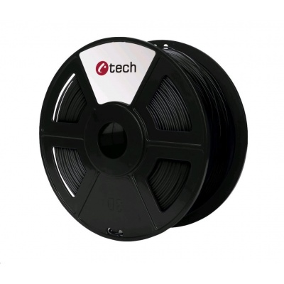 C-TECH Tisková struna (filament) PETG, 1,75mm, 1kg, černá
