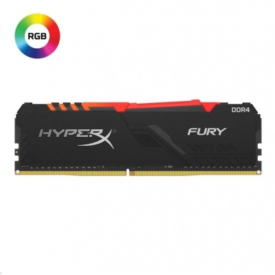 DIMM DDR4 8GB 2666MHz CL16 KINGSTON HyperX FURY Black RGB