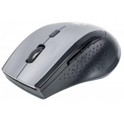 MANHATTAN Myš Curve, USB, optická, bezdrátová, 5-tlačítková, 1600 dpi, šedo-černá