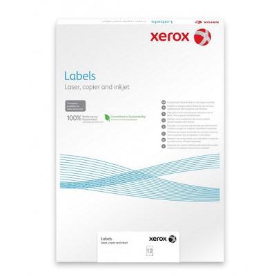 Plastový samolepicí materiál Xerox PNT Label - Clear (229g/100 listů, A3)