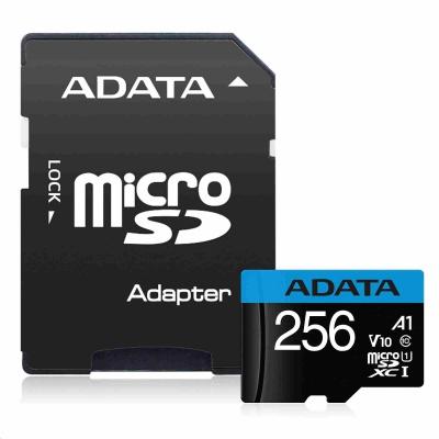 ADATA MicroSDHC karta 256GB UHS-I Class 10, Premier + adaptér