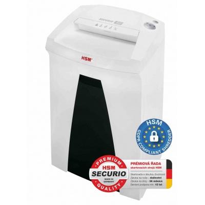 HSM skartovač Securio B22 (řez: Kombinovaný 1,9x15mm   vstup: 240mm   DIN: P-5 (4)   papír, sponky, plast. karty )