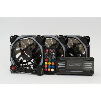 1stCOOL Fan KIT AURA EVO 3 ARGB, 3x HEXA1 ventilátor + ARGB řadič + dálkový ovladač