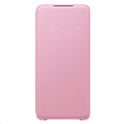 Samsung pouzdro LED S-View EF-NG985PPE pro Galaxy S20+, růžová