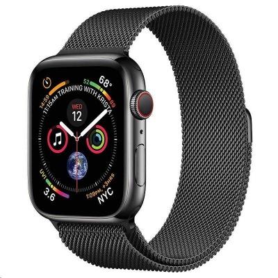 COTEetCI ocelový magnetický řemínek pro Apple Watch 38 / 40mm černý
