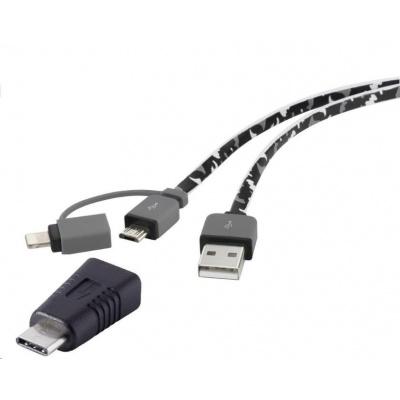 IPhone/iPod/iPad nabíjecí kabel/datový kabel Renkforce RF-4263363, 20.00 cm, maskáčová