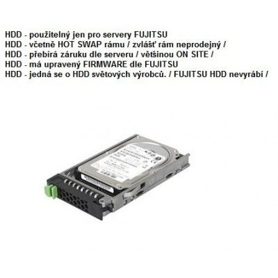 FUJITSU HDD SRV HD SAS 12G 900GB 10K 512n HOT PL 2.5' EP pro RX2520M4