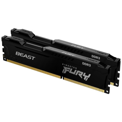 KINGSTON FURYBeast 8GB 1600MHz DDR3 CL10 DIMM(Kit of 2) Black